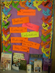 Our Sacraments display for Confirmation