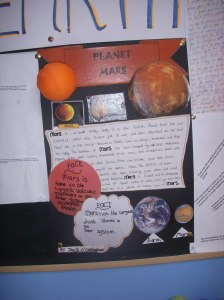 Jack put in a lot of effort in his 'planet Mars' project!