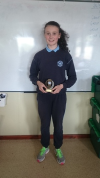 Player of the year! Well done Orla!