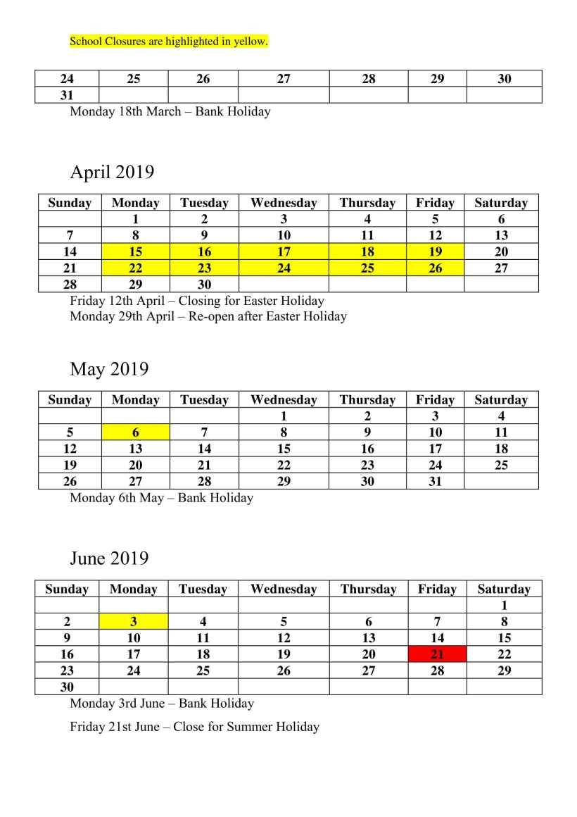 Scoil Naomh Micheál Calendar-3